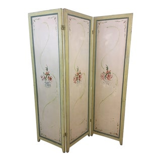 1960s Two Sided Painted Screen For Sale
