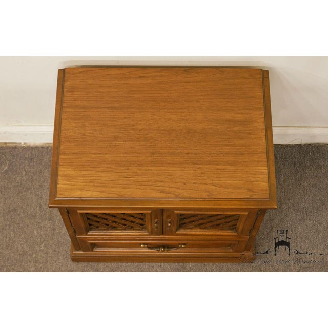 "Late 20th Century Drexel Esperanto Collection Spanish Mediterranean 26"" Cabinet Nightstand For Sale - Image 5 of 13"