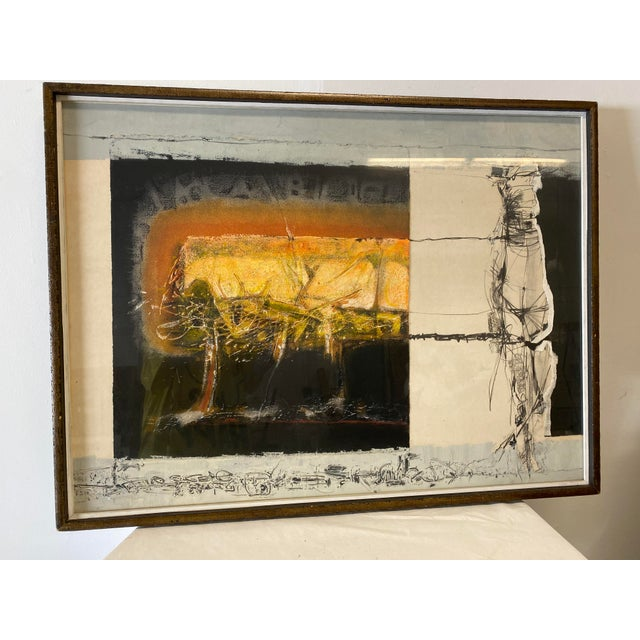 Abstract Joni Pienkowski Mixed Media Painting For Sale - Image 3 of 13