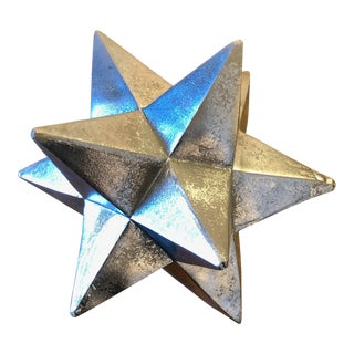 12-Point Silver Painted Resin Star For Sale