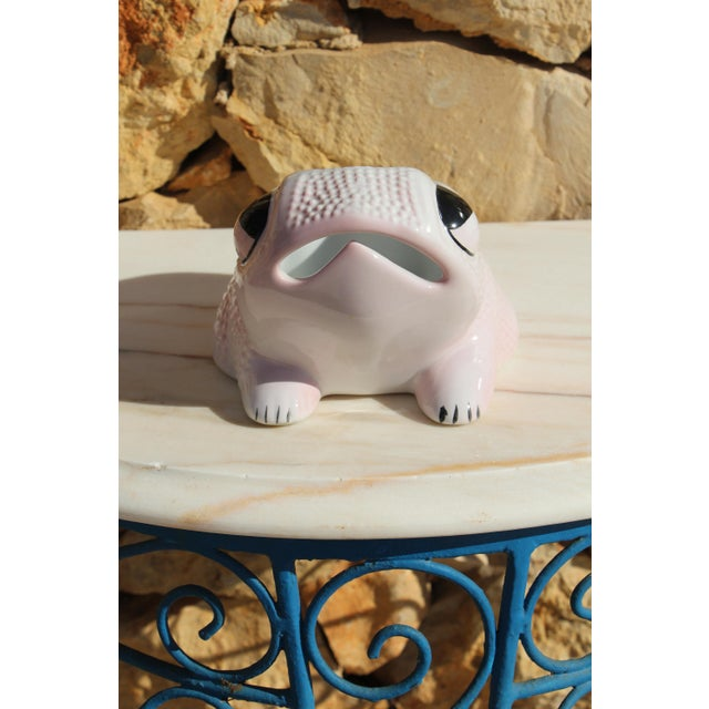 Safari 1970's Vintage Hobnail Frog Planter in the Style of Jean Roger For Sale - Image 3 of 13