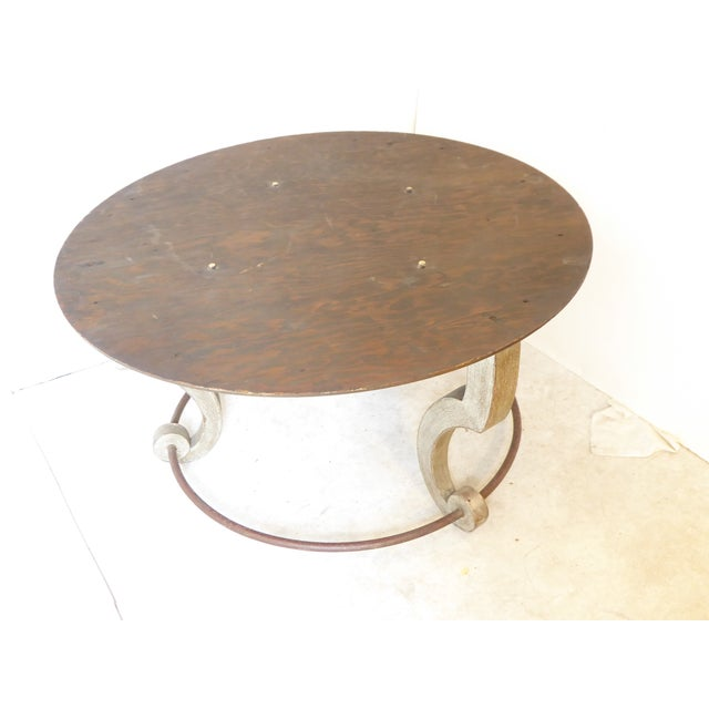 Vintage Italian Inlay White Marble Coffee Table For Sale In Boston - Image 6 of 8