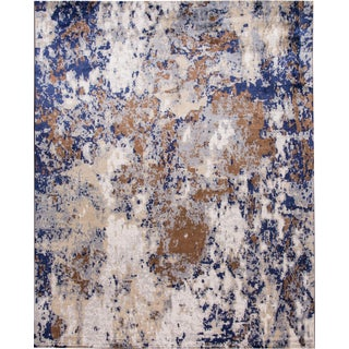21st Century Modern Abstract Wool & Silk Rug 12 X 15 For Sale