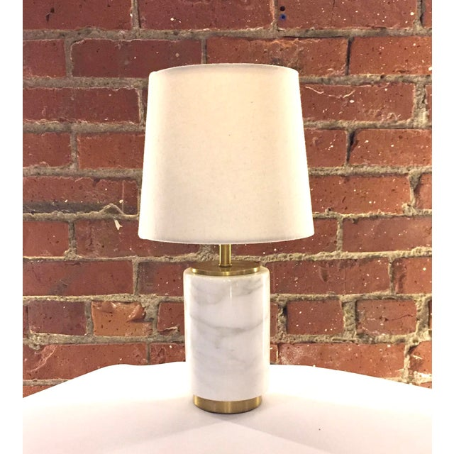 West elm marble pillar table lamp chairish like new west elm table or desk lamp the lamp base is made aloadofball Choice Image