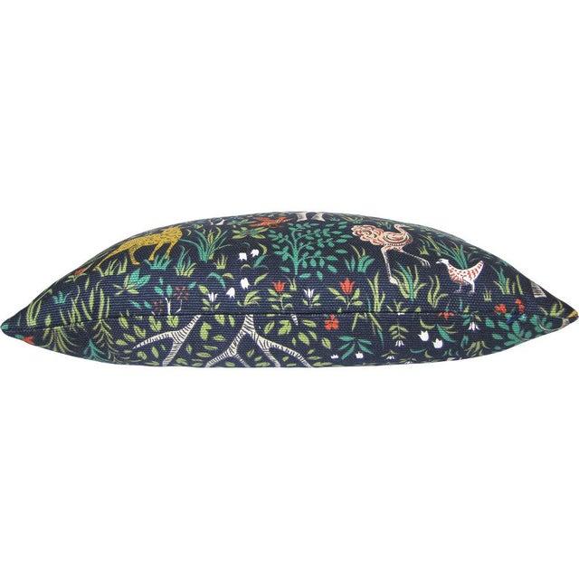 Robert Allen Folkland Fabric Custom Pillow Cover For Sale - Image 4 of 4