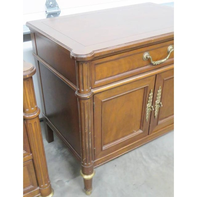 Baker Furniture Company Companion Pair of Baker Nightstands For Sale - Image 4 of 7