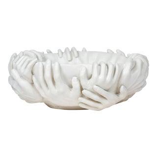Surrealist Ceramic Bowl Reminiscent of Fornasetti