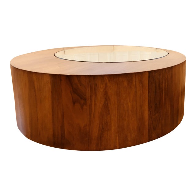 Mid Century George Mulhauser for Plycraft Round Coffee Table For Sale