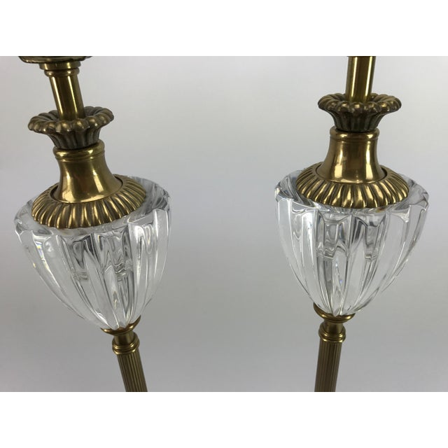 Frederick Cooper Brass & Lucite Buffet Lamps - A Pair - Image 5 of 10