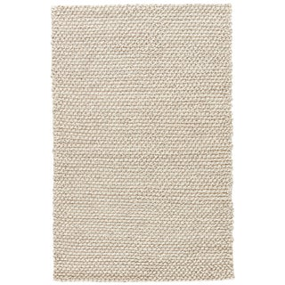 Jaipur Living Alta Handmade Solid Gray & White Area Rug - 8' X 10' For Sale