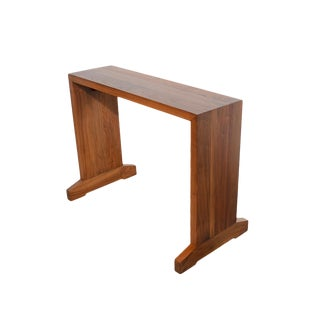 1970s Mid-Century Modern Walnut Console Table For Sale