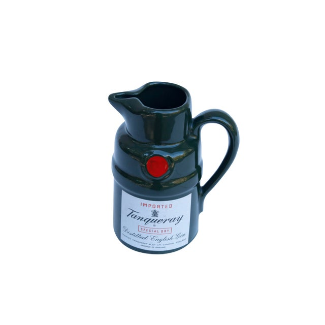 English Tanqueray English Gin Ceramic Pitcher For Sale - Image 3 of 6