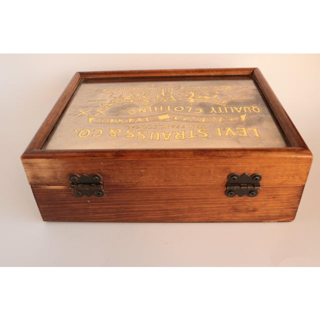 Metal Levi Strauss & Co. Centennial Box For Sale - Image 7 of 11