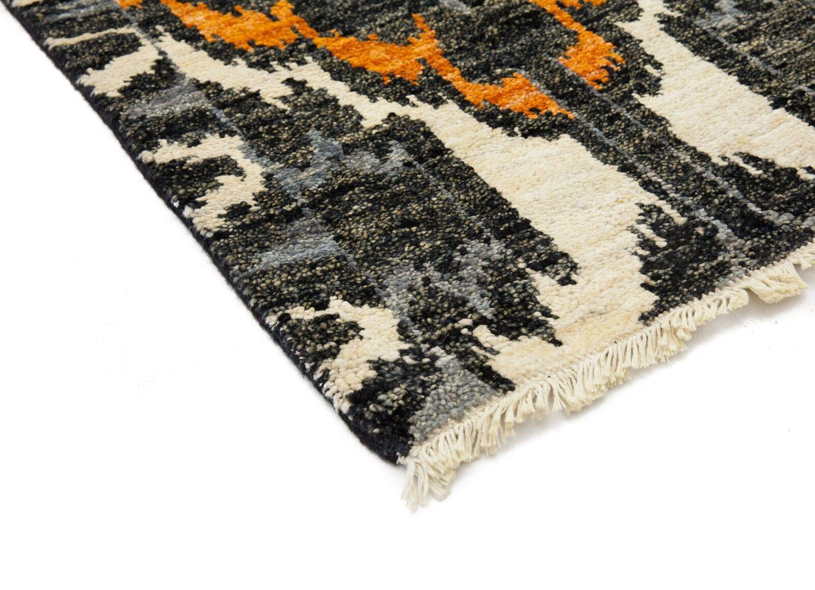 Ikat Hand Knotted Runner Rug 2 7 Quot X 10 5 Quot Chairish