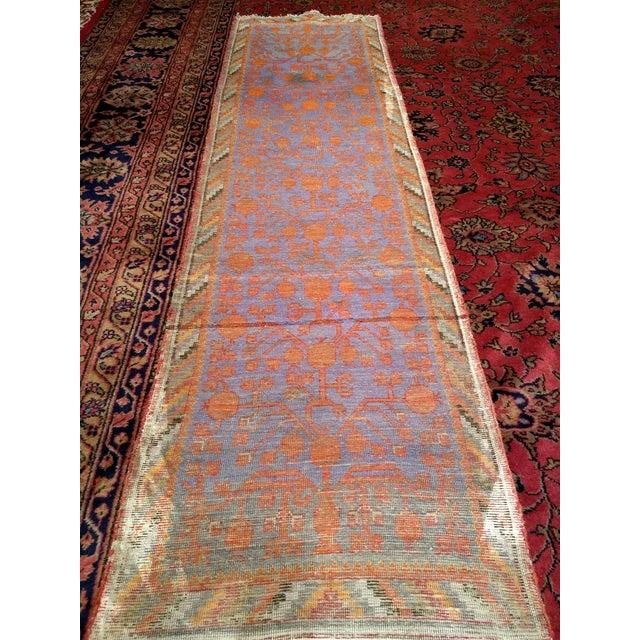 19th Century Art Nouveau Khotan Rug Runner - 2′2″ × 8′1″ For Sale - Image 11 of 12
