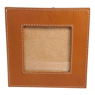 Modern Arte & Cuoio Small Square Leather Photo Frame For Sale