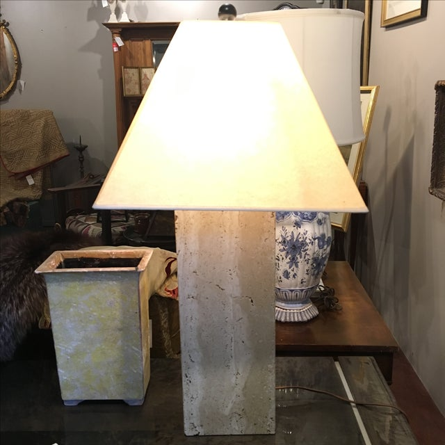 Modern Travertine Table Lamp - Image 2 of 8