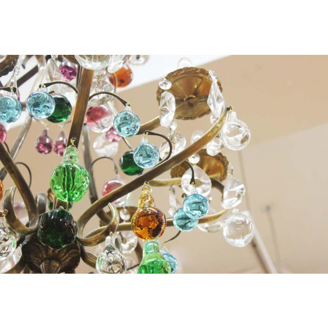 1950s Italian Mid Century Modern Murano Glass Fruit Chandelier For Sale - Image 11 of 13