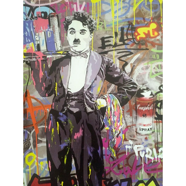 "Mr. Brainwash "" Charlie Chaplin "" Original Lithograph Print Pop Art Poster For Sale In New York - Image 6 of 11"
