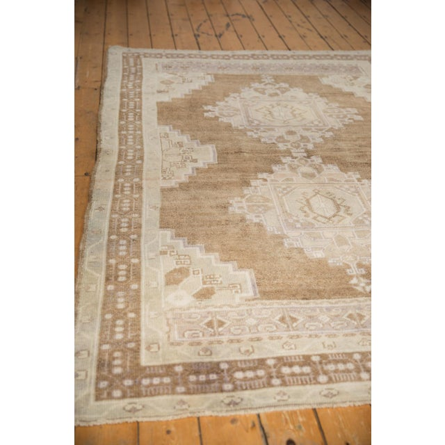 """Old New House Vintage Distressed Oushak Carpet - 5'7"""" X 8'3"""" For Sale - Image 4 of 11"""