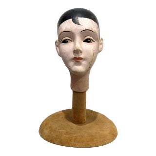 Antique Ceramic Flapper Bust For Sale