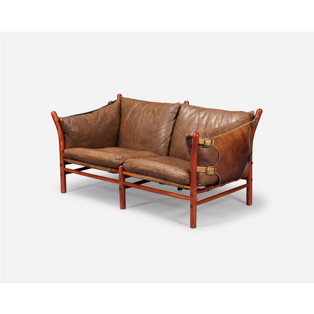 Arne Norell Rare Arne Norell Ilona Sofa in Brown Leather, Sweden, 1960s For Sale - Image 4 of 5