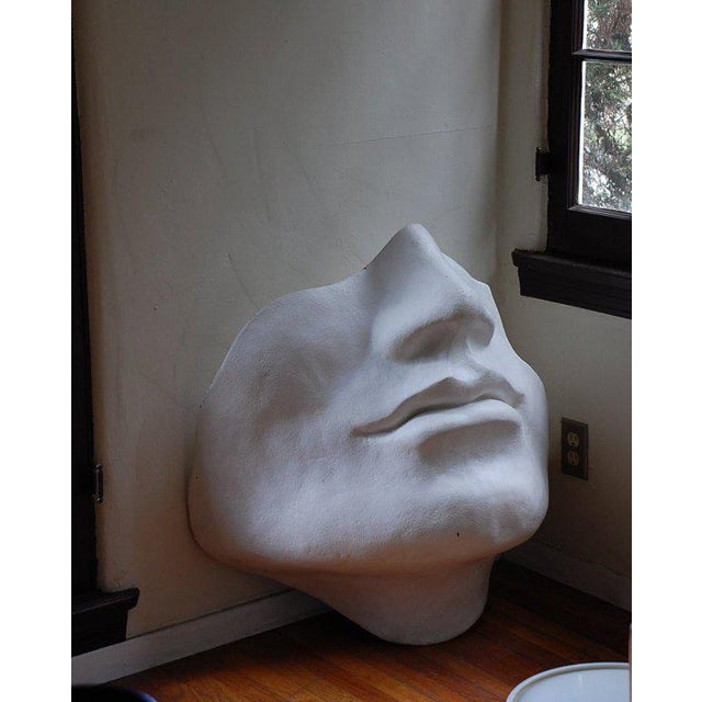 Mid-Century Modern Mid Century Large Scale Faux Plaster Face Sculpture For Sale - Image 3 of 5