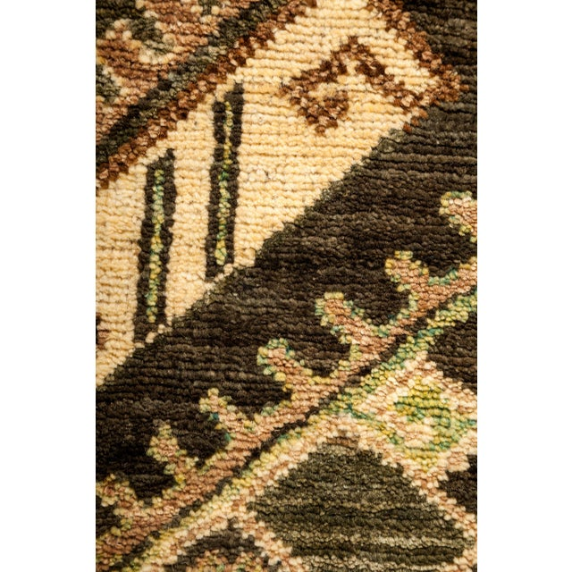 "New Tribal Traditional Hand Knotted Area Rug - 4'2"" x 5'10"" - Image 3 of 3"