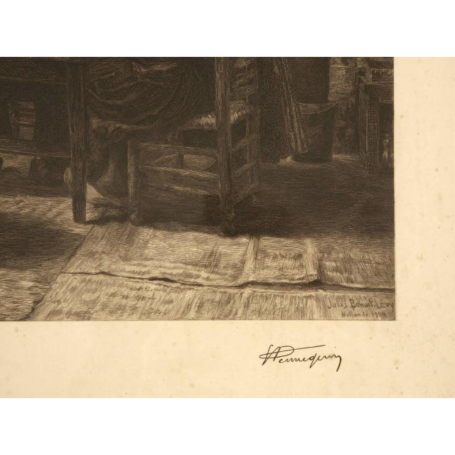 Authentic Jules Benoit-Lévy Engraving For Sale - Image 9 of 11