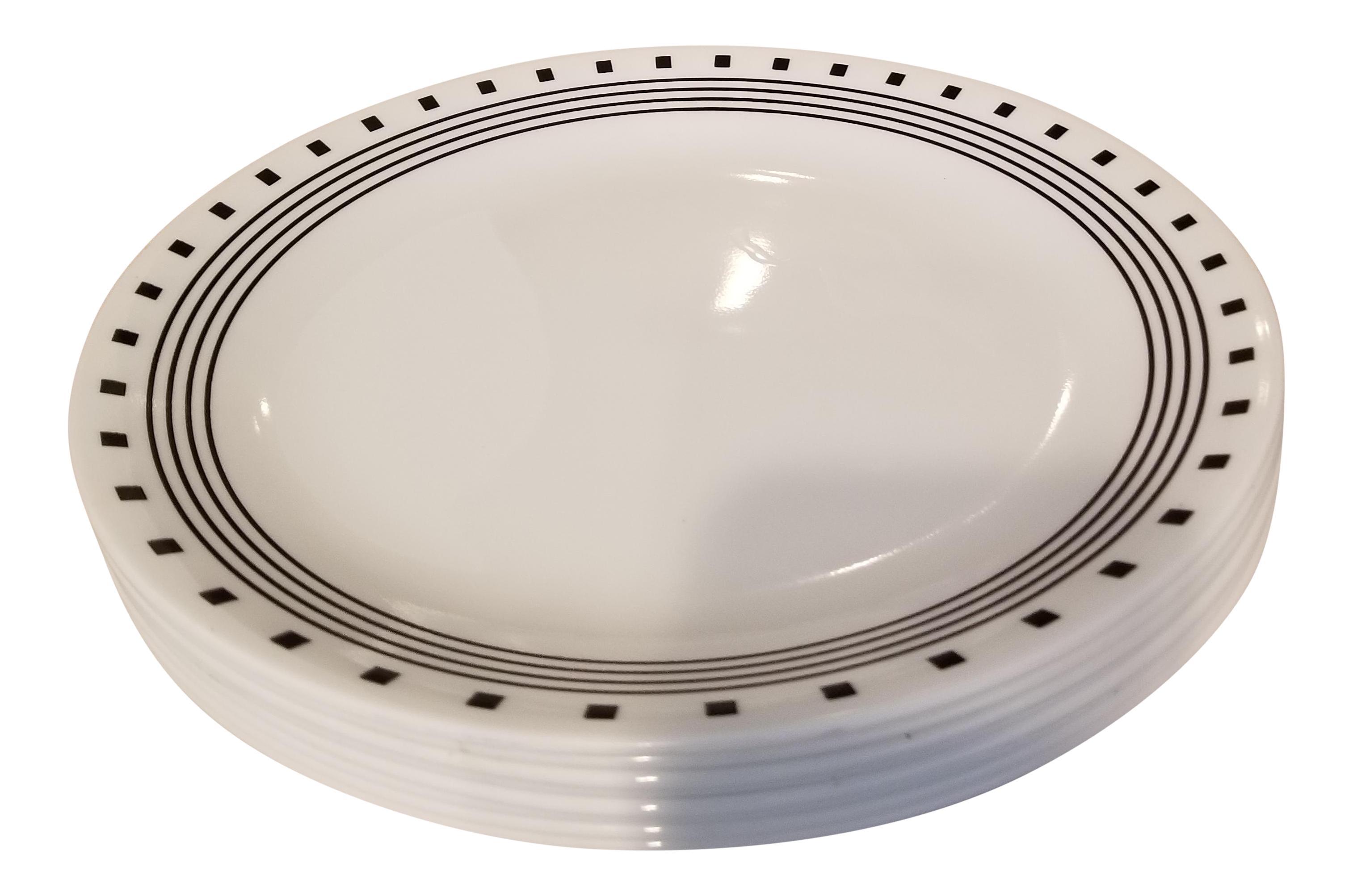 Vintage Black and White Corelle Large Dinner Plates - Set of 8 - Image 1 of  sc 1 st  Chairish & Vintage Black and White Corelle Large Dinner Plates - Set of 8 ...