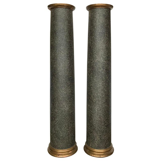 Mid 18th Century 18th Century Neoclassical Faux Porphyry Columns - a Pair For Sale - Image 5 of 5