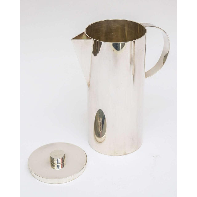 1980s Silver Plate Swid Powell for Calvin Klein Three-Piece Coffee Service For Sale - Image 5 of 11
