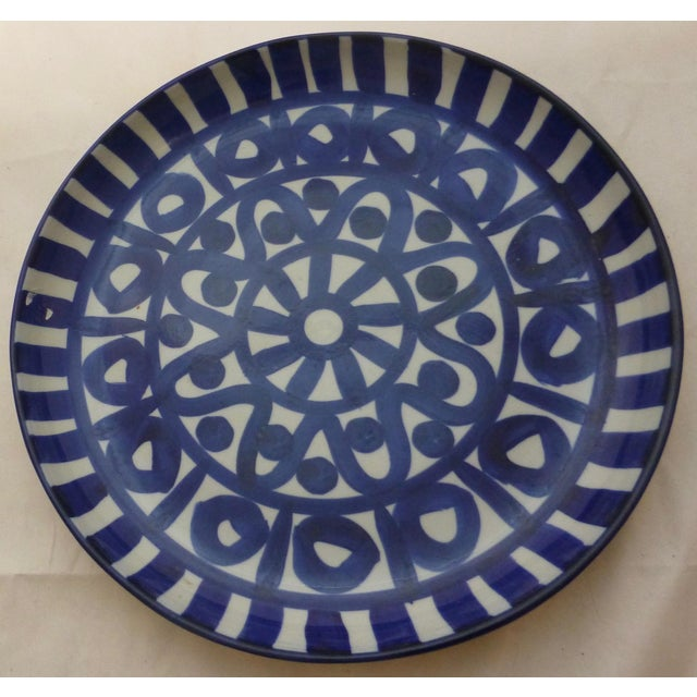 Love the blue and white decoration to this large Dansk platter. Crafted in Japan, and dating from the 1970's. In overall...
