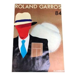 1980's Vintage Original Roland Garros Lithograph by Razzia For Sale