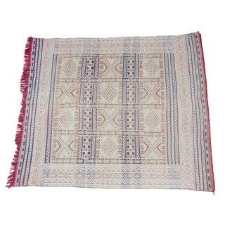 Flat Weave (Square) Moroccan Kilim For Sale