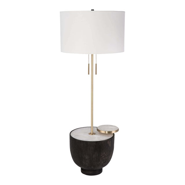 Theo Floor Lamp in Ebony For Sale