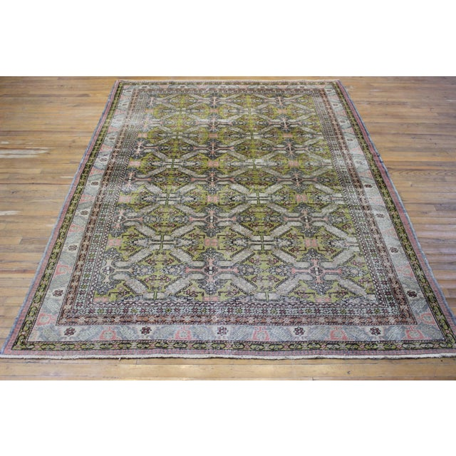 6.7x9.4 Feet Oriental Turkish Antalya Vintage Rug - Image 8 of 9
