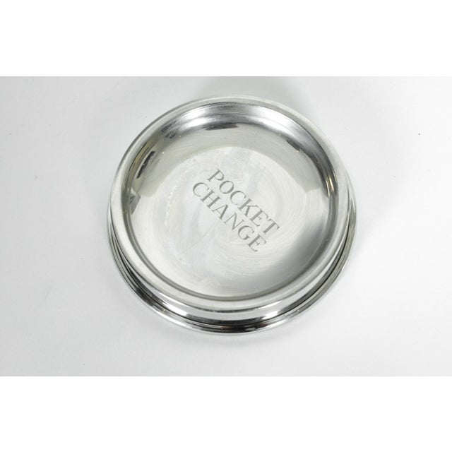 English Traditional English Silver Plated Pocket Change Tray For Sale - Image 3 of 5