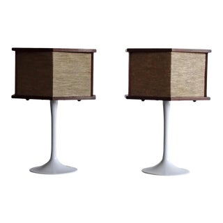 1970s Vintage Bose Speakers on Pedestal Tulip Bases - a Pair For Sale