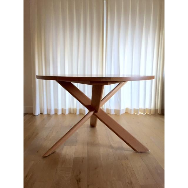 Round Oak Dining Table - Image 2 of 4