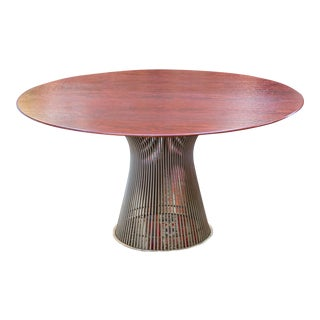 Vintage Mid-Century Modern Rosewood Platner Dining Table For Sale
