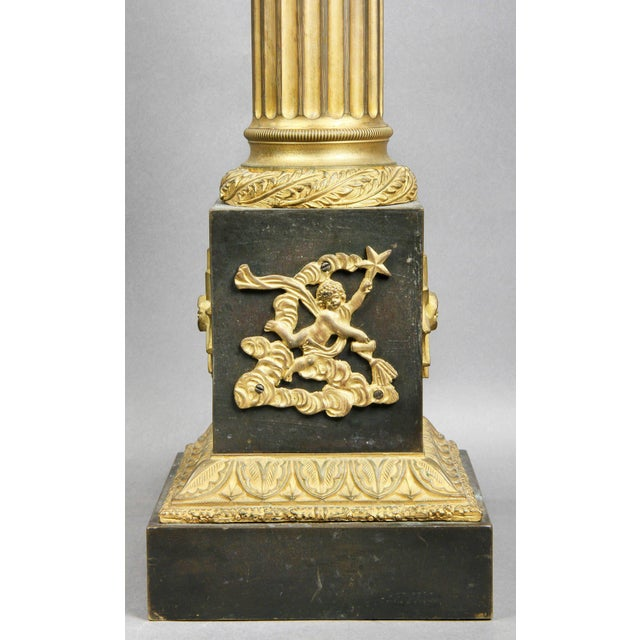 Bronze French Empire Patinated and Gilt Bronze Table Lamp For Sale - Image 7 of 8