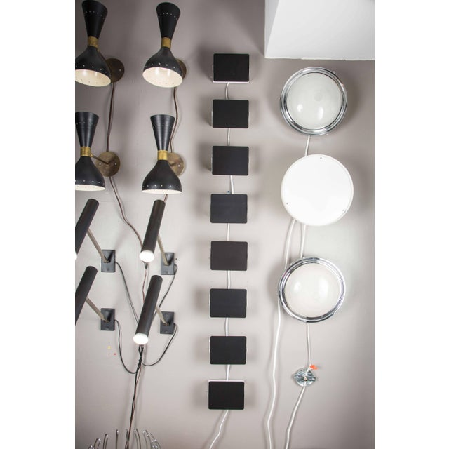 Cassina Charlotte Perriand 'Applique á Volet Pivotant' Wall Lights in Black and White For Sale - Image 4 of 12