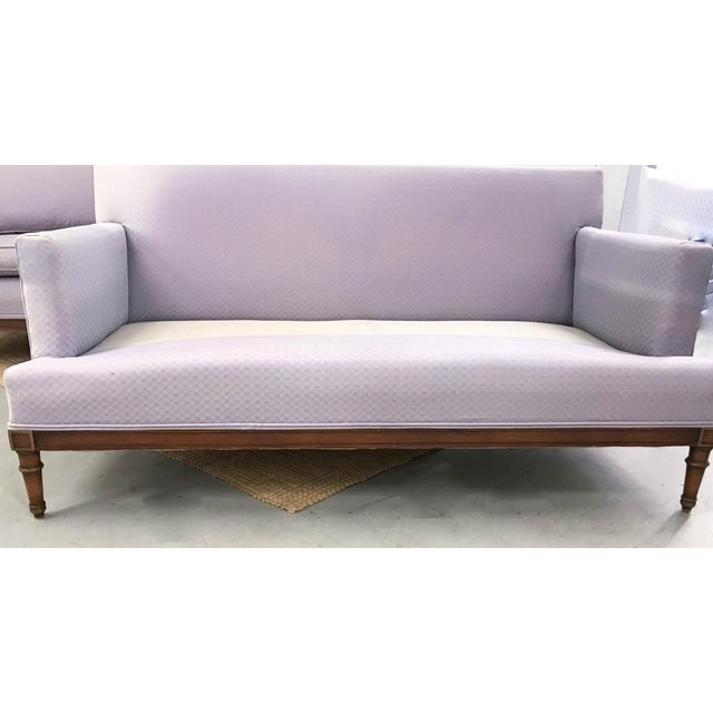 Mid-Century Faux Bamboo Small Sofas - A Pair - Image 5 of 9
