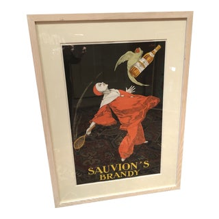 Vintage Poster for Sauvion's Brandy For Sale