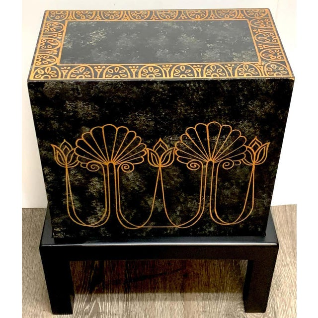 Grand Tour Style Polychromed Greek Motif Cabinet on Stand For Sale - Image 10 of 13