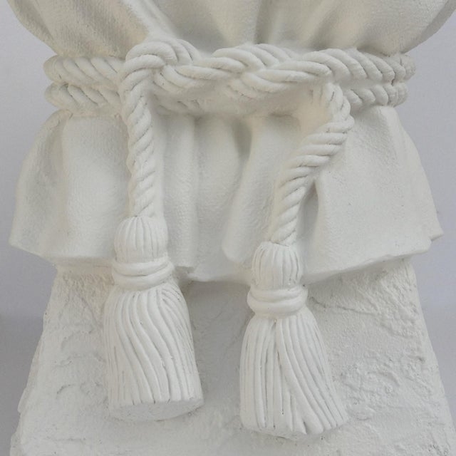 John Dickinson Attributed Draped Plaster Side Table Pedestal For Sale - Image 9 of 11
