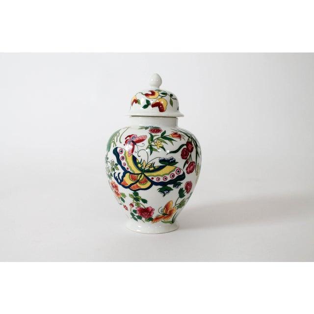 Asian Colorful Vintage Lidded Ginger Jar For Sale - Image 3 of 10