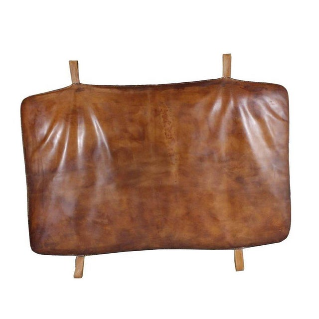 1930s Vintage Leather Czech Gym Mat For Sale - Image 5 of 5