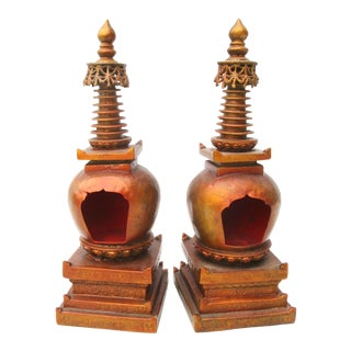 Antique Sino-Tibetan Stupas - a Pair. For Sale